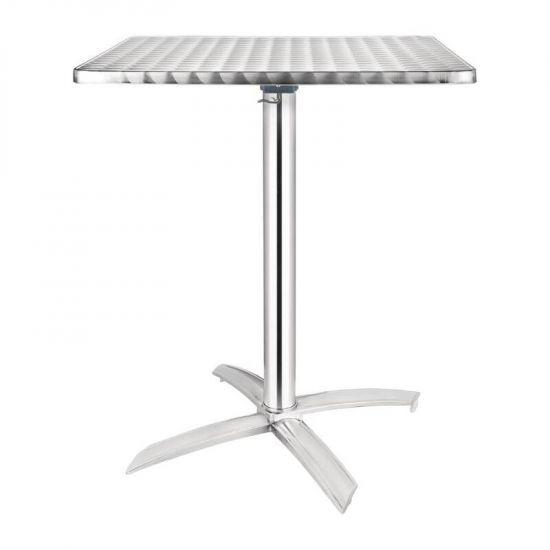 Bolero Square Flip-Top Table Stainless Steel 600mm URO CG838