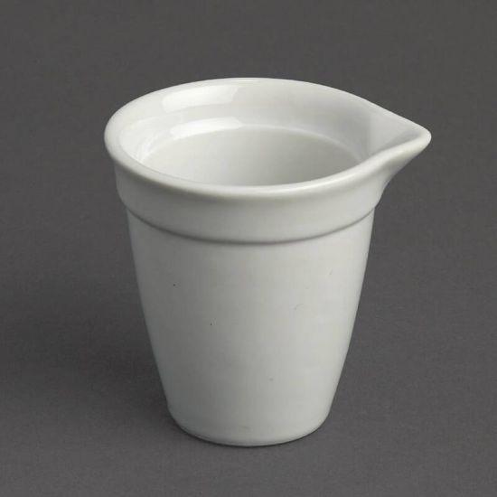 Olympia Bistro Milk Jug White 42ml Box of 12 URO CL114