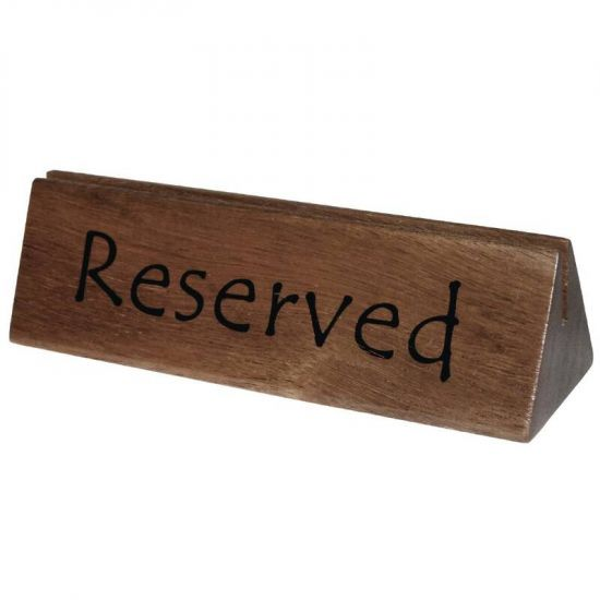 Olympia Acacia Menu Holder And Reserved Sign Box of 10 URO CL381