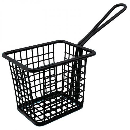 Olympia Mini Square Fryer Basket Black URO CL472