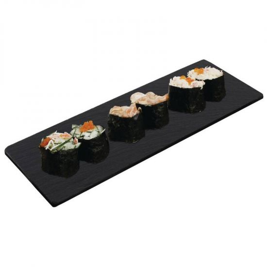 Olympia Smooth Edged Slate Platter 280x100mm Box of 2 URO CM062