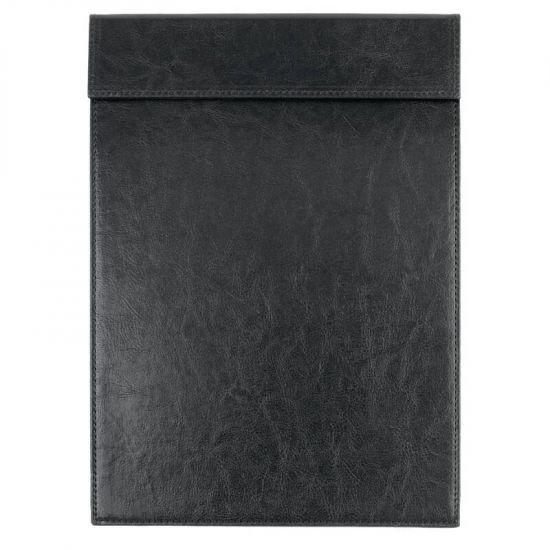 Olympia Leatherette Magnetic Menu Holder Black A4 URO CM488