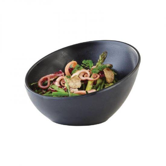 APS Zen Melamine Round Sloped Bowl Black 300ml URO CN076