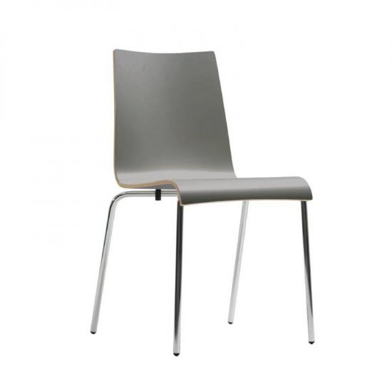 Bolero Plyform Stacking Sidechair Anthracite (Pack Of 4) URO CP752