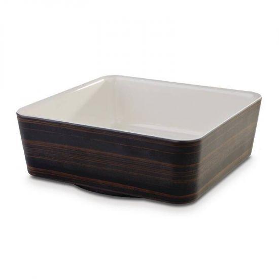 APS Plus Melamine Square Bowl Oak And Cream 1.5 Ltr URO CW690