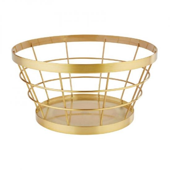 APS Plus Metal Basket Gold Brushed 110 X 210mm URO CW696