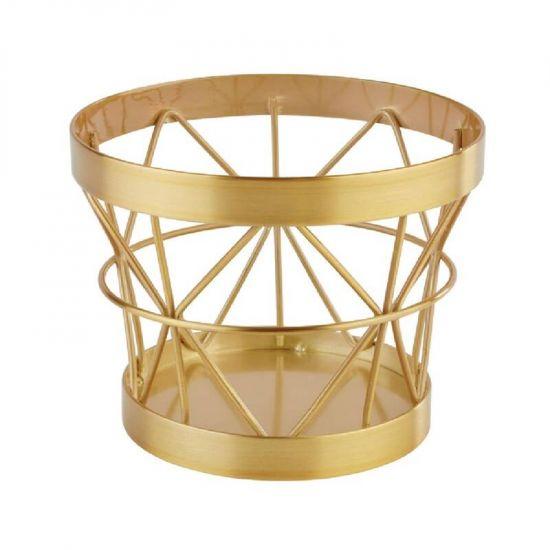 APS Plus Metal Basket Gold Brushed 80 X 105mm URO CW699