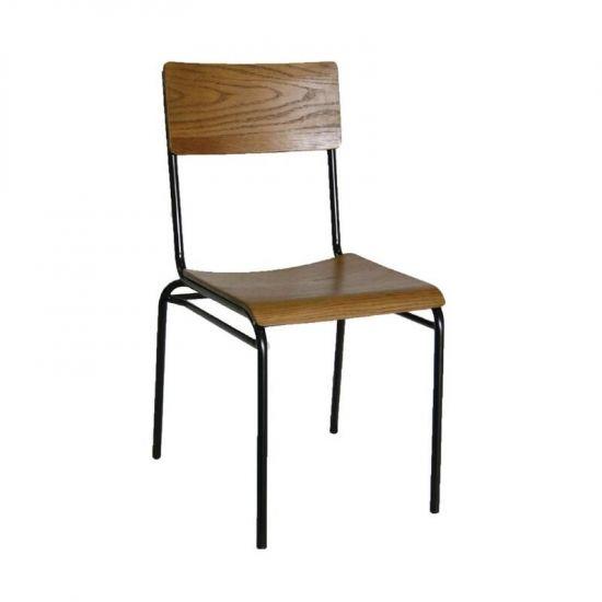 Bolero Industrial Metal Sidechair (Pack Of 2) URO DA596