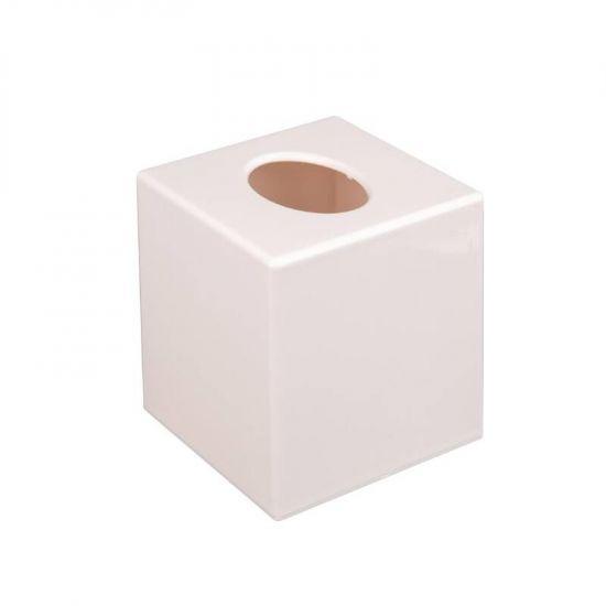 White Cube Tissue Holder URO DA604