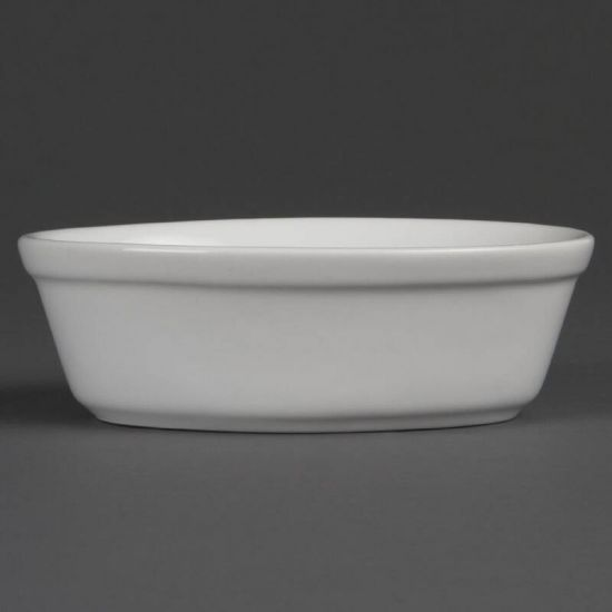 Olympia Whiteware Oval Pie Bowls 161mm Box of 6 URO DK807