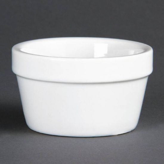 Olympia Mediterranean Ramekins White 77mm Box of 6 URO DK826