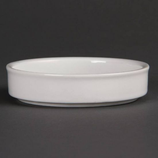 Olympia Mediterranean Stackable Dishes White 102mm Box of 6 URO DK827