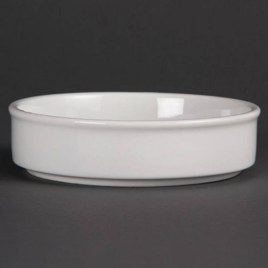 Olympia Mediterranean Stackable Dishes White 134mm Box of 6 URO DK828