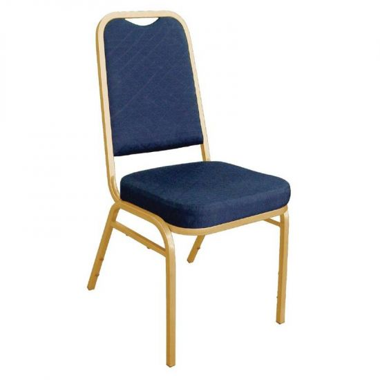 Bolero Squared Back Banquet Chair Blue (Pack Of 4) URO DL015