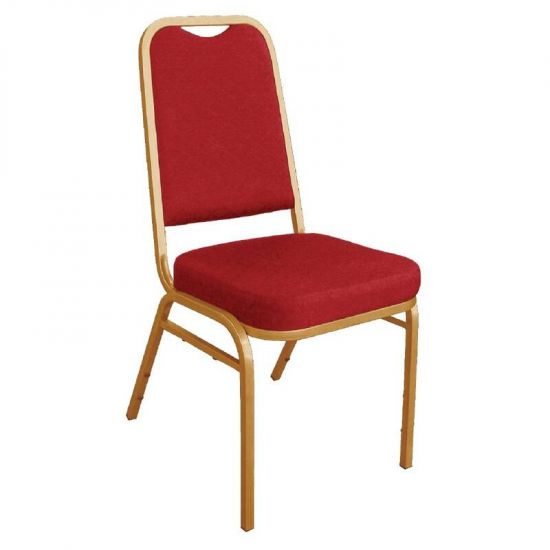 Bolero Squared Back Banquet Chair Red (Pack Of 4) URO DL016
