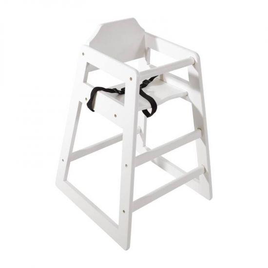 Bolero Wooden High Chair Antique White Finish URO DL833