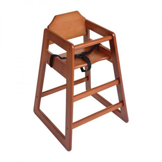 Bolero Wooden High Chair Dark Wood Finish URO DL901