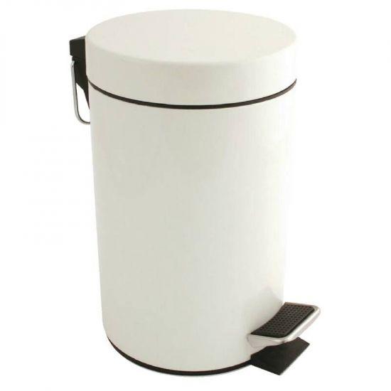 Bolero White Pedal Bin 3Ltr URO DP039