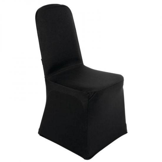 Bolero Banquet Chair Cover Black URO DP923