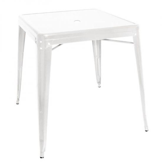 White Steel Bistro Table 660mm URO GC869