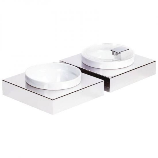 APS Frames Stainless Steel Small Square Buffet Bowl Box URO GC922