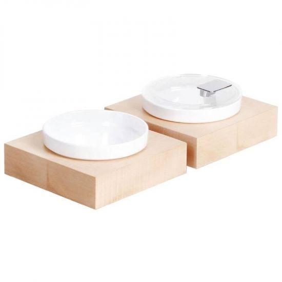 APS Frames Maple Wood Small Square Buffet Bowl Box URO GC924