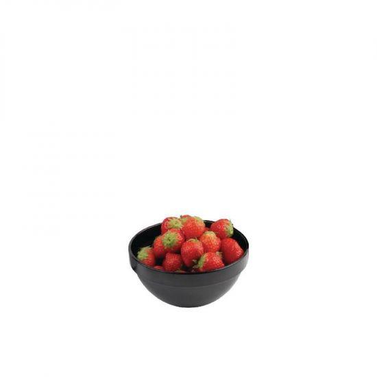 APS Frames Black 0.5Ltr Melamine Bowl URO GC933