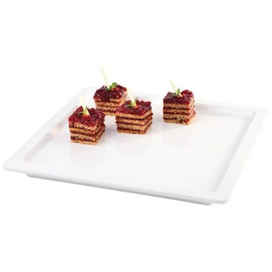 White Square 9 Inch Tray URO GD102