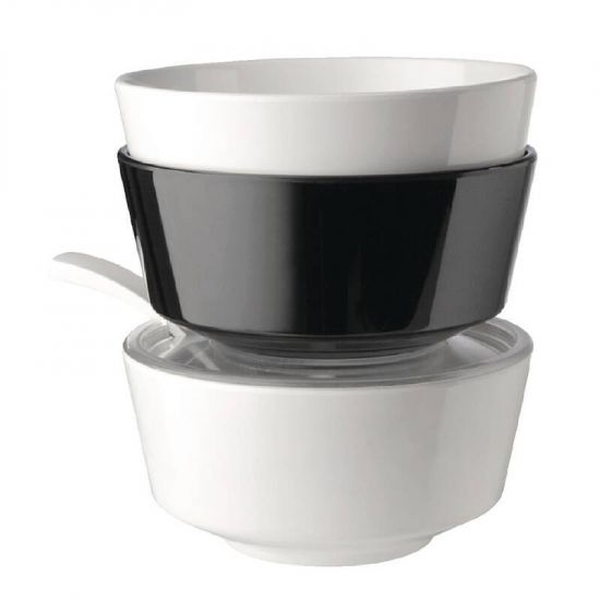 APS Float Black Round Bowl 8in URO GF089