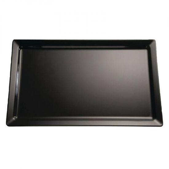 APS Pure Black Melamine Tray GN 1/4 URO GF127