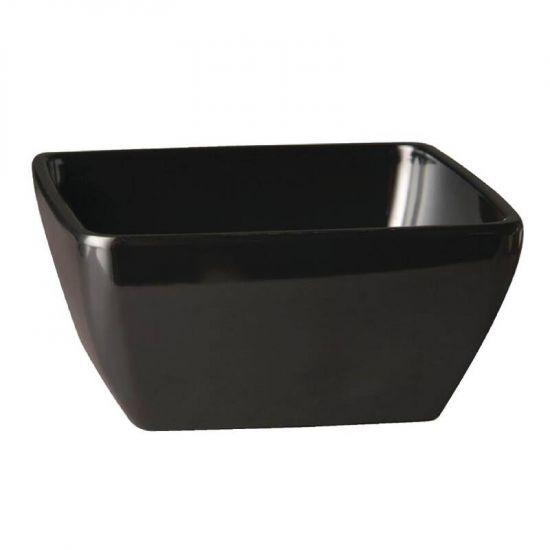 APS Pure Melamine Black Square Bowl 125mm URO GF135