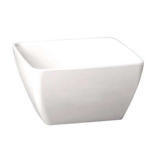 APS Pure Melamine White Square Bowl 250mm URO GF138