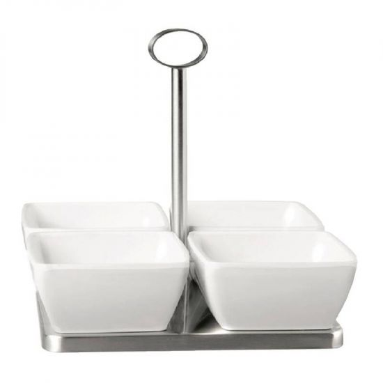 APS Stainless Steel Stand With 4x Bowls URO GF164