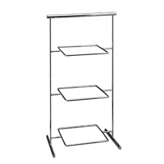 APS Pure Melamine Chrome Serving Stand 290mm URO GF166