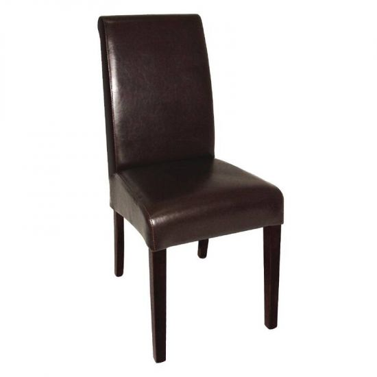 Bolero Curved Back Leather Chairs (Pack Of 2) URO GF956