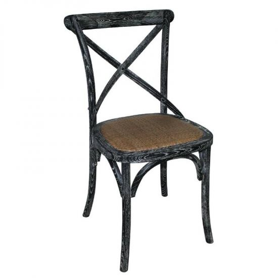 Bolero Black Wooden Dining Chairs With Backrest (Pack Of 2) URO GG654
