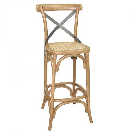 Bolero Wooden Barstool With Backrest URO GG657