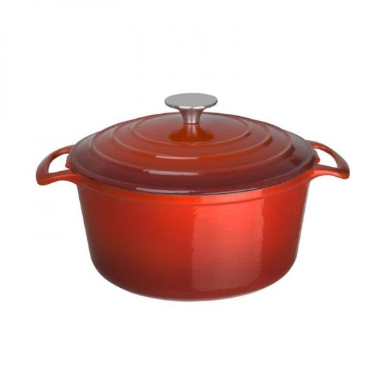Vogue Red Round Casserole Dish 4Ltr URO GH305