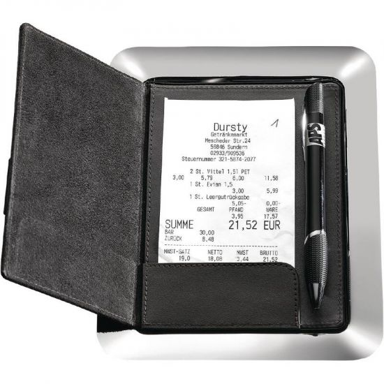 APS Stainless Steel And Leather Bill Presenter URO GH406