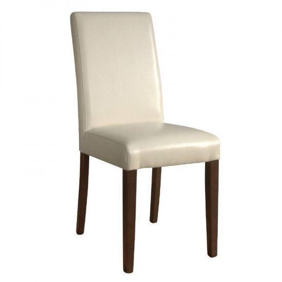 Bolero Faux Leather Dining Chairs Cream (Pack Of 2) URO GH444