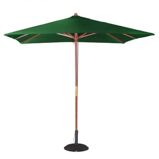 Bolero Square Double Pulley Parasol 2.5m Wide Green URO GH989