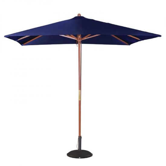 Bolero Square Double Pulley Parasol 2.5m Wide Navy Blue URO GH991