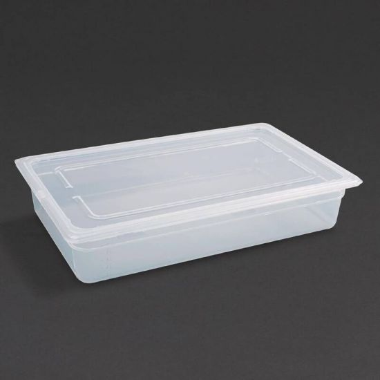 Vogue Polypropylene 1/1 Gastronorm Container With Lid 100mm URO GJ511
