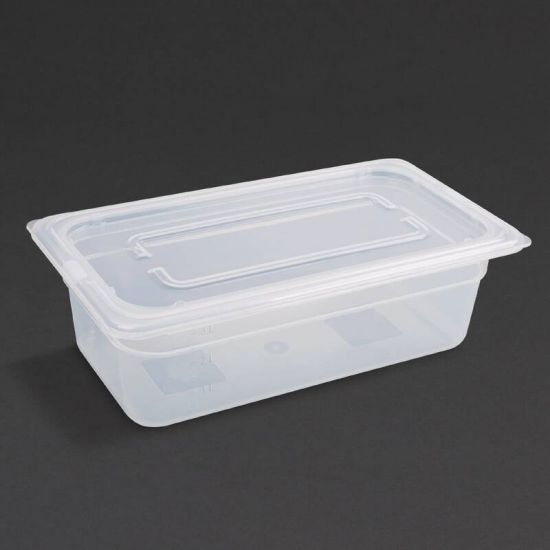 Vogue Polypropylene 1/3 Gastronorm Container With Lid 100mm URO GJ519