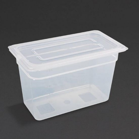 Vogue Polypropylene 1/3 Gastronorm Container With Lid 200mm URO GJ521