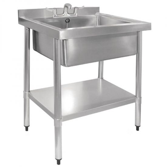 Vogue Stainless Steel Midi Pot Wash Sink With Undershelf URO GJ537