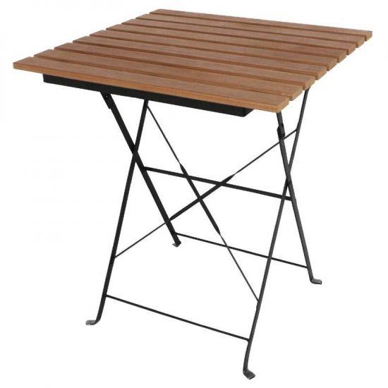 Bolero Faux Wood Bistro Table Square 600mm URO GJ765
