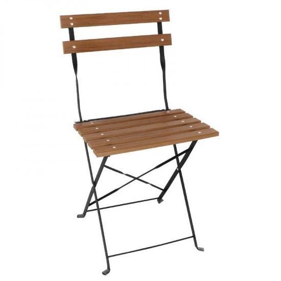 Bolero Faux Wood Bistro Chairs (Pack Of 2) URO GJ766