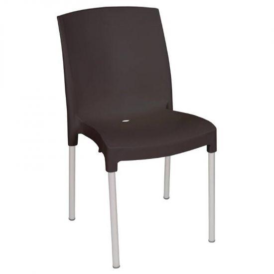 Bolero Stacking Bistro Side Chairs Black (Pack Of 4) URO GJ976