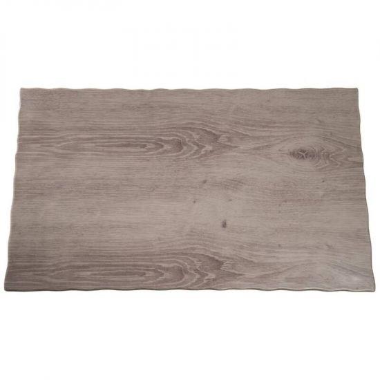 APS Wood Effect Melamine Tray GN 1/1 URO GK645